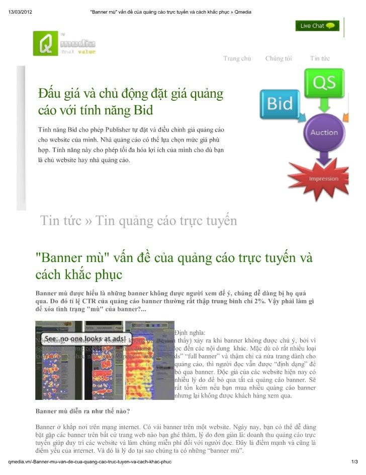 """""""Banner mù"""" vấn đề của quảng cáo trực tuyến và cách khắc phục"""