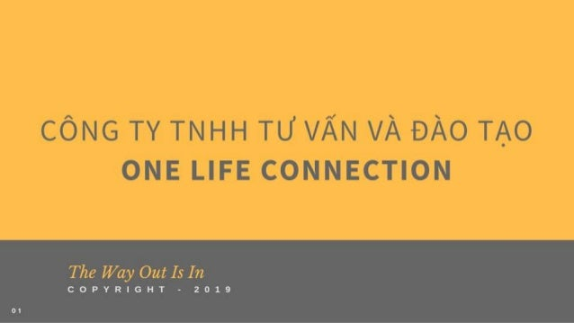 [VN] One Life Connection Training & Consultancy Company Introduction 2019