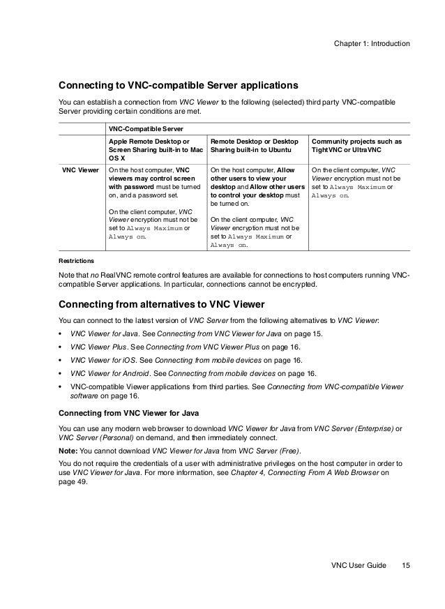 VNC User Guide