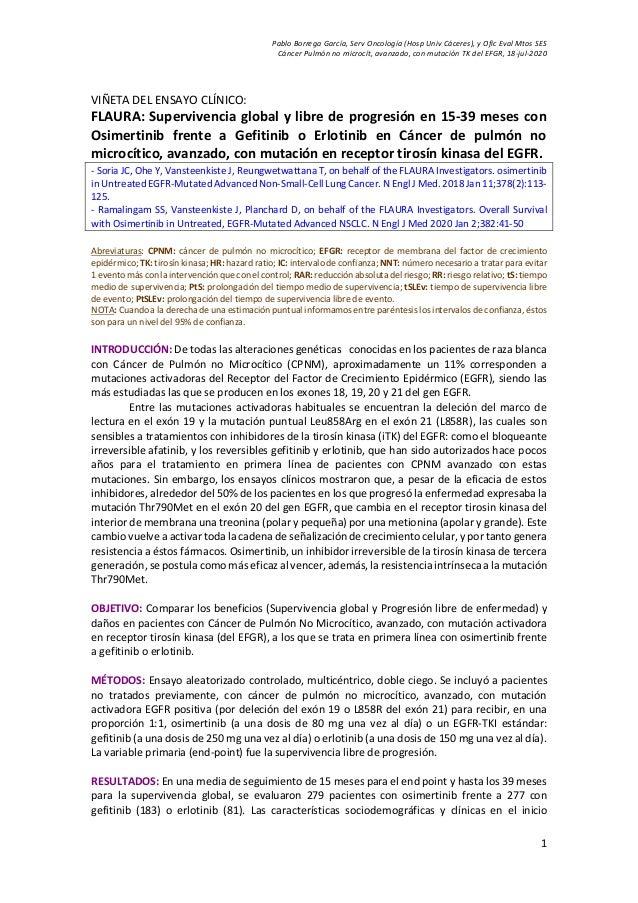Pablo Borrega Garc�a, Serv Oncolog�a (Hosp Univ C�ceres), y Ofic Eval Mtos SES C�ncer Pulm�n no microc�t, avanzado, con mu...