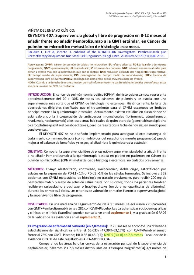 Mª José Izquierdo Pajuelo, SSCC SES, y Ofic Eval Mtos SES CPCNP escam metast, QMT [Pembr vs Pl], 29-oct-2020 1 VIÑETA DEL ...