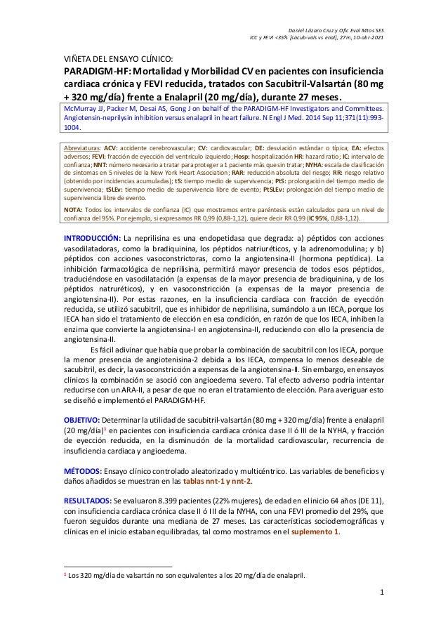 Daniel Lázaro Cruz y Ofic Eval Mtos SES ICC y FEVI <35% [sacub-vals vs enal], 27m, 10-abr-2021 1 VIÑETA DEL ENSAYO CLÍNICO...