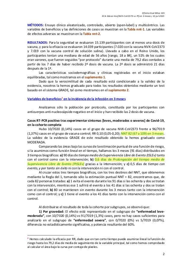 Vn eca vacuna covid 19 [nvx-co v2373 novavax vs pl] Slide 2