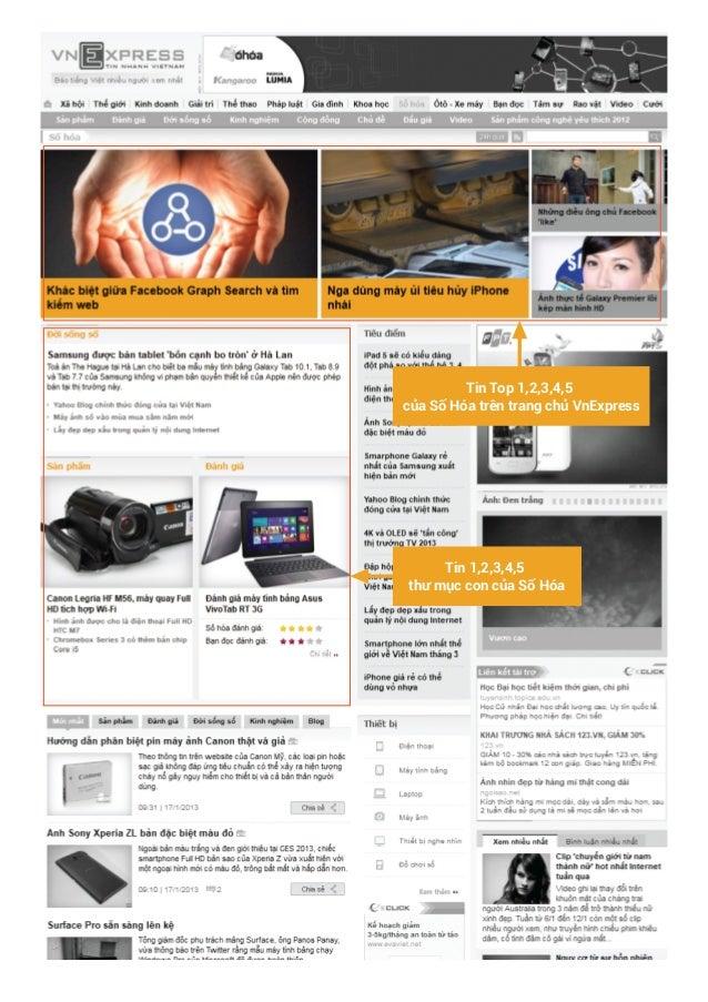Tin Top 1,2,3,4,5 của Số Hóa trên trang chủ VnExpress  Tin 1,2,3,4,5 thư mục con của Số Hóa