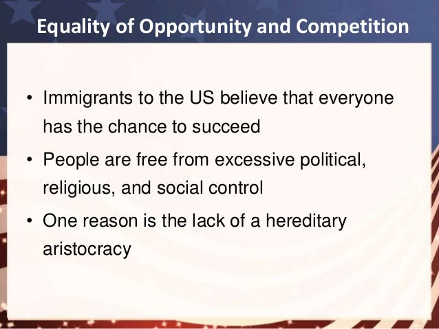 equality of opportunity in america essay Equal opportunity vs that there is supposedly an equality of opportunity when aid alexis de tocqueville america american dream american economy.