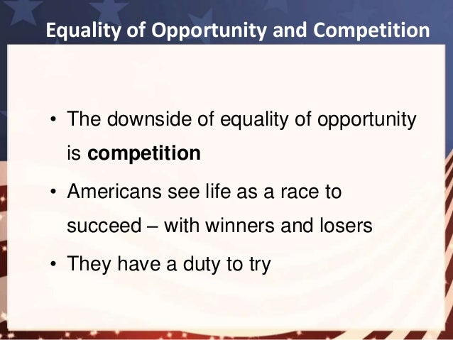Equality of opportunity in america essays