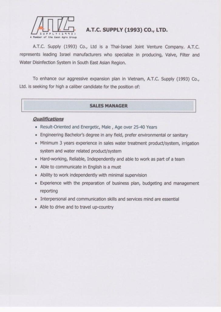 Vn Job Ad - ATC Supply