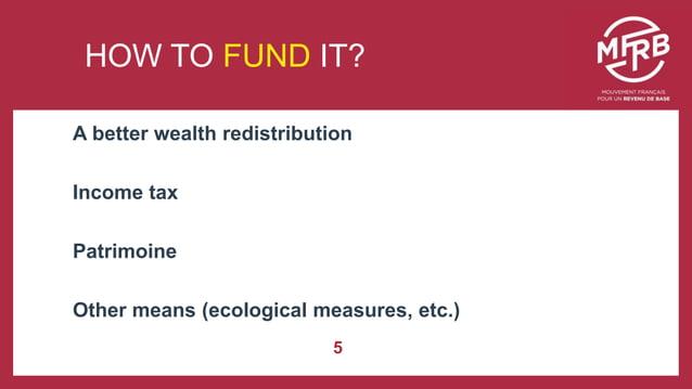 Une démarche engagée … A better wealth redistribution Income tax Patrimoine Other means (ecological measures, etc.) 5 HOW ...