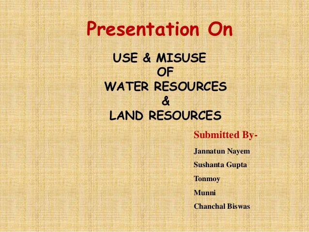 overuse and misuse of water Water misuse essay sample  that we have had constant lamentations about the shortage of water and the destruction of fertile soil because of the overuse of water.