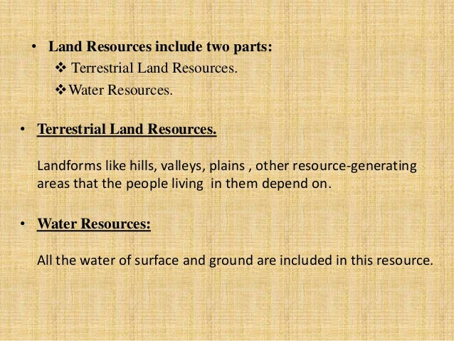 Misuse of water resources