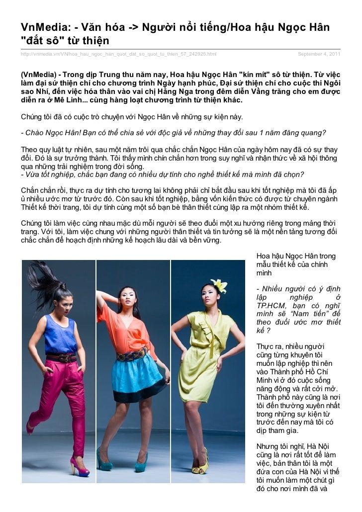 """VnMedia: - Văn hóa -> Người nổi tiếng/Hoa hậu Ngọc Hân""""đắt sô"""" từ thiệnhttp://vnmedia.vn/VN/hoa_hau_ngoc_han_quot_dat_so_q..."""
