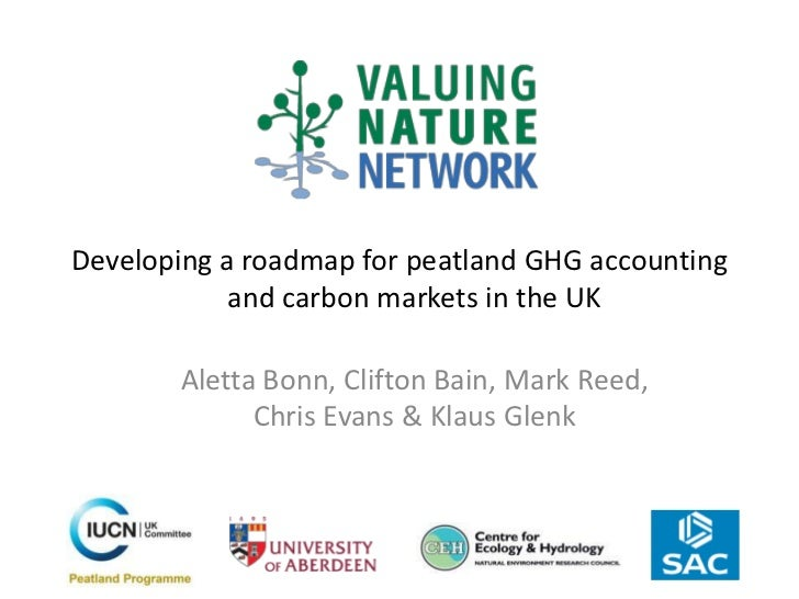 Developing a roadmap for peatland GHG accounting            and carbon markets in the UK       Aletta Bonn, Clifton Bain, ...