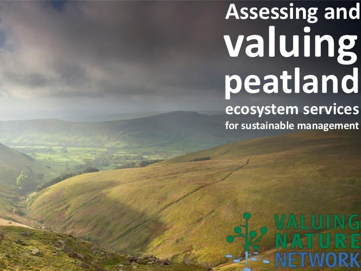Assessing andvaluingpeatlandecosystem servicesfor sustainable management