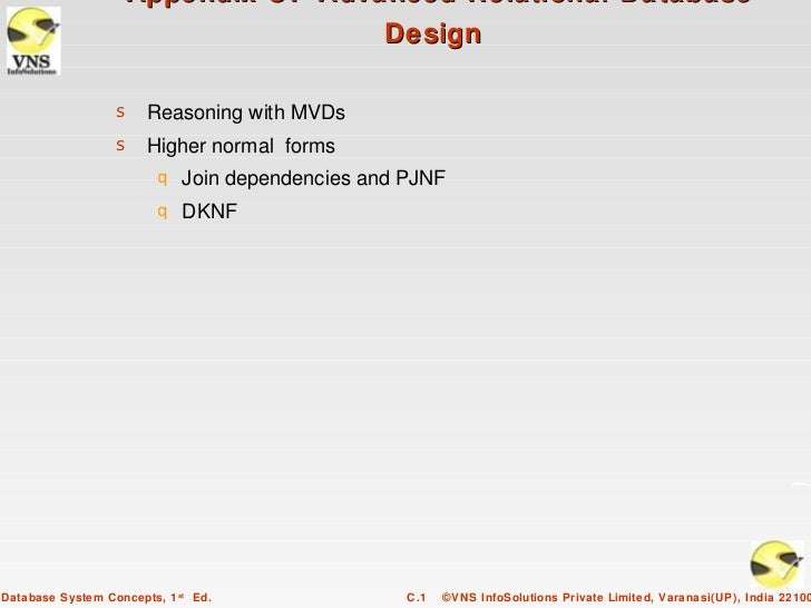 Appendix C: Advanced Relational Database                                    Design                  s Reasoning with MVDs ...