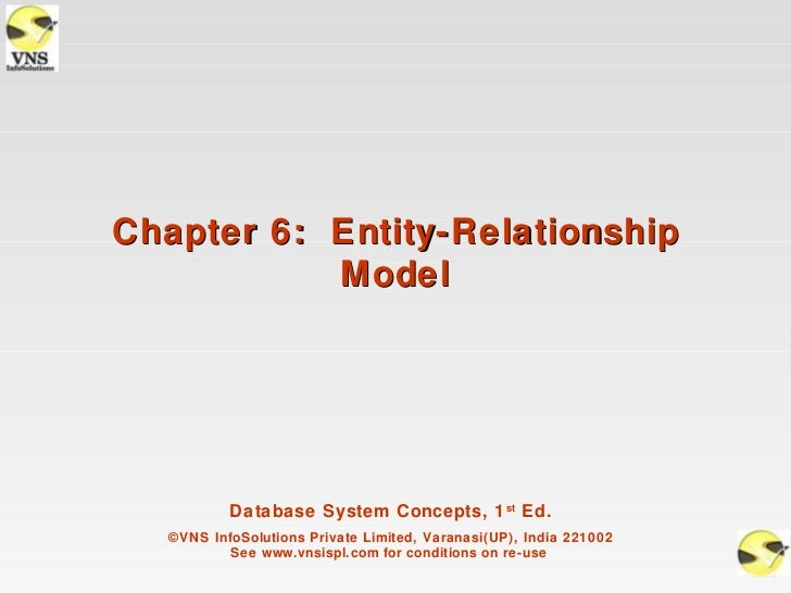 Chapter 6: Entity-Relationship           Model           Database System Concepts, 1 st Ed.   ©VNS InfoSolutions Private L...