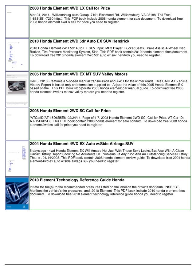vnx su rh slideshare net Honda Element Off-Road Honda Element Off-Road