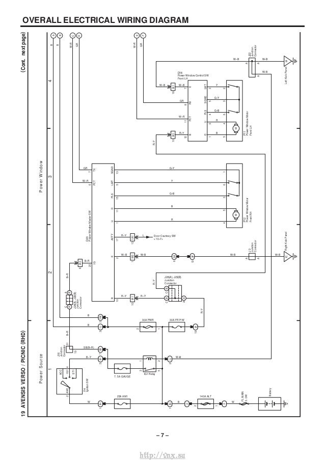 10 €� 8 Overall Electrical Wiring Diagram: Toyota Avensis Central Locking Wiring Diagram At Hrqsolutions.co