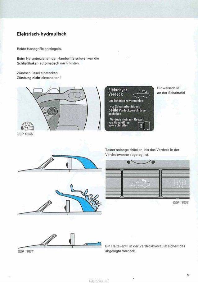 Golf 1 Cabrio Elektrisches Verdeck Schaltplan