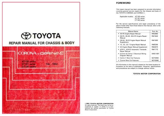 http vnx su electrical wiring diagrams toyota carina e corona rh slideshare net 2013 Toyota Camry 2013 Toyota Avalon