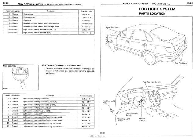 Vnx Su   Electrical Wiring Diagrams Toyota Carina E