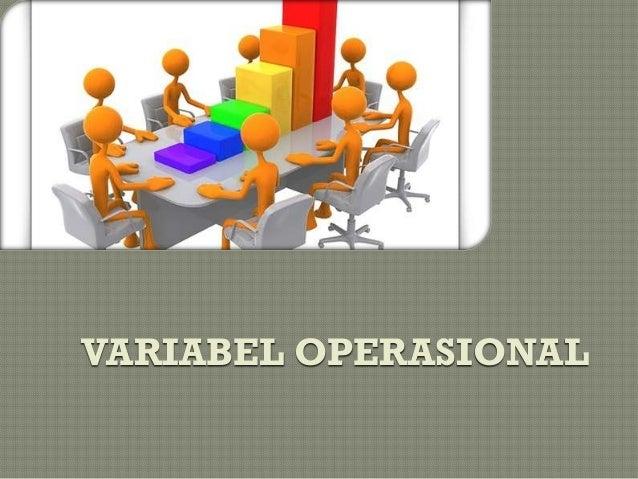 VARIABEL OPERASIONAL