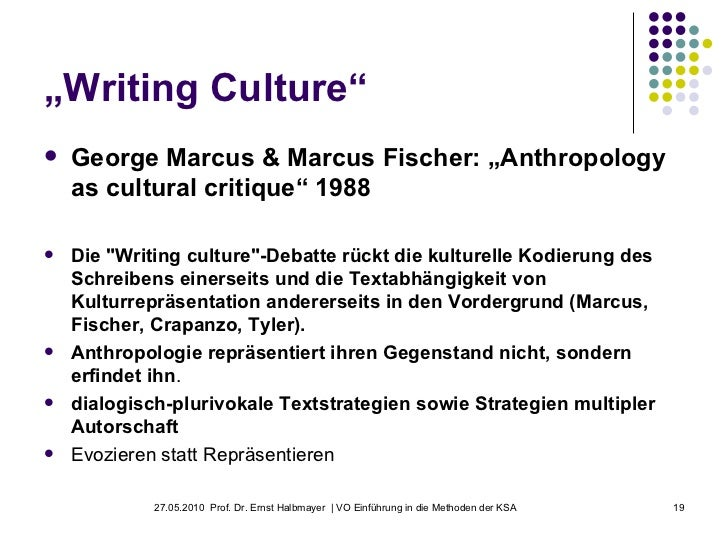 marcus and fischer anthropology as a cultural critique notes essay Editorial team general editors: david bourget (western ontario) david chalmers (anu, nyu) area editors: david bourget gwen bradford.