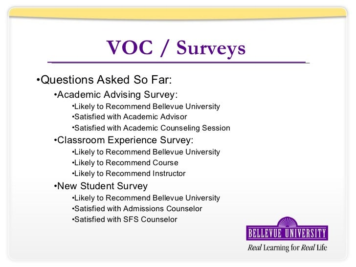 voc survey questions