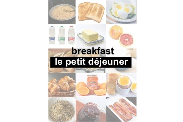 Le petit dejeuner vocabulaire anglais for Anglais vocabulaire cuisine