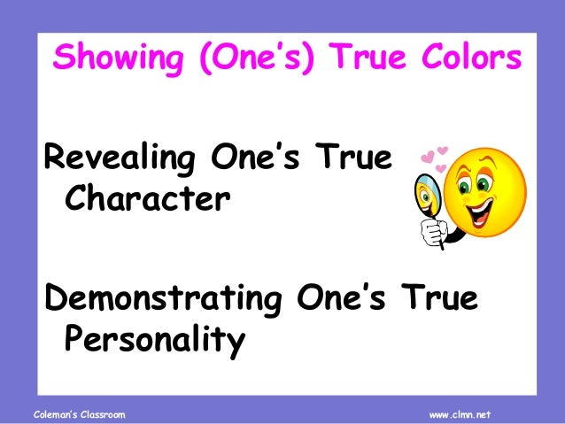 Review Idioms about Colors Slide 2