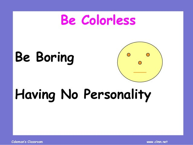 Review Idioms about Colors Slide 3
