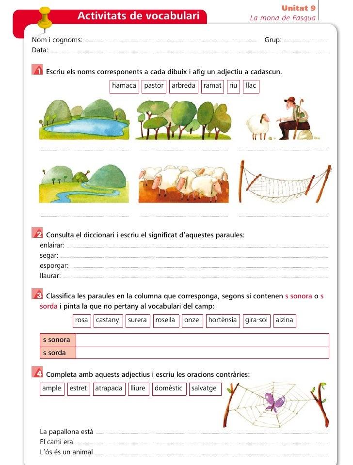 Unitat 9                                                 Activitats de vocabulari                                         ...