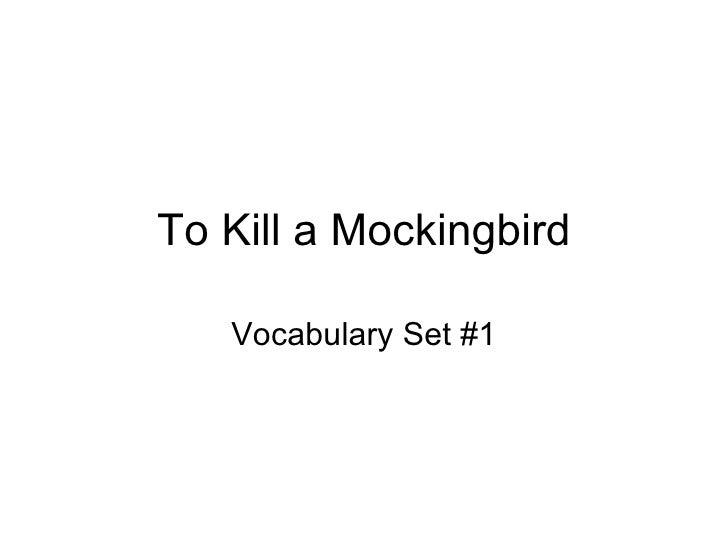 To Kill a Mockingbird Vocabulary Set #1