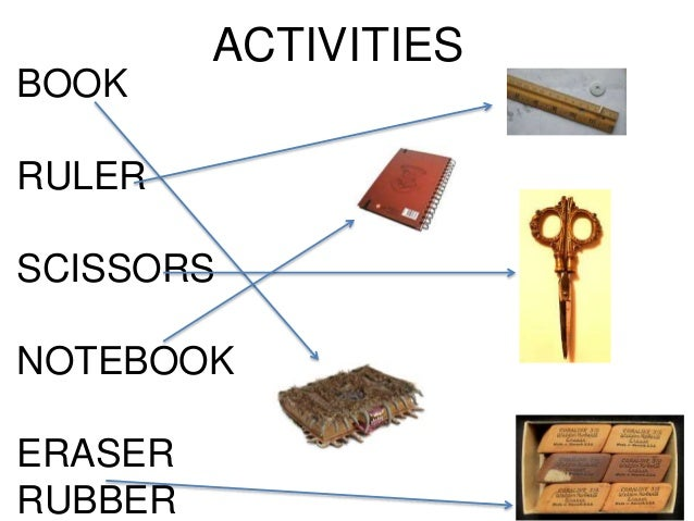 Vocab activities CLASSROOM OBJECTS HARRY POTTER THEME