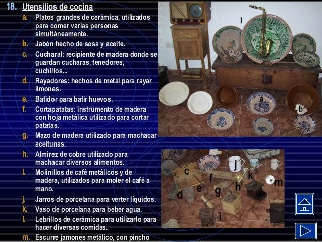 Vocablos y utensilios campesinos de la sierra en otras pocas for Utensilios de cocina de ceramica