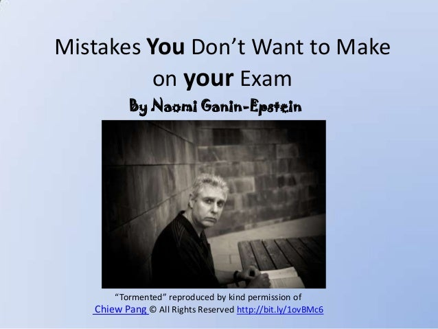 """Mistakes You Don't Want to Make on your Exam """"Tormented"""" reproduced by kind permission of Chiew Pang © All Rights Reserved..."""