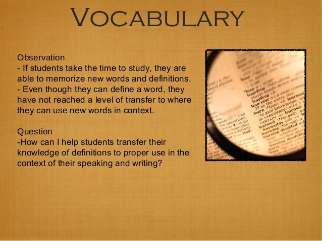 Vocabulary Acquisition to Improve Reading Comprehension