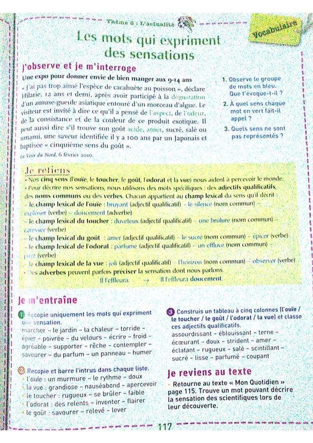 Leçons du livre Mot de passe, Vocabulaire évaluation 3