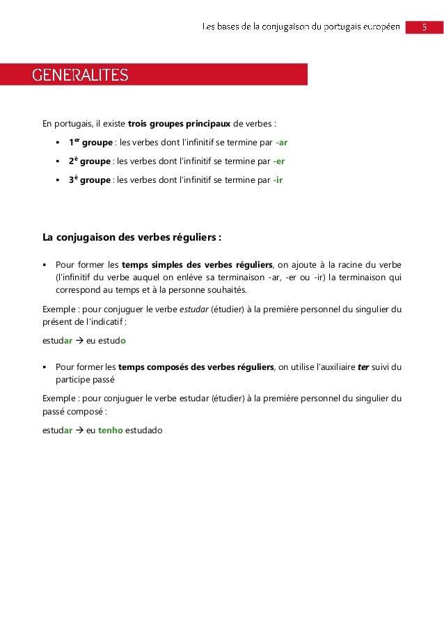 Extrait Ebook Les Bases De La Conjugaison Du Portugais Europeen V