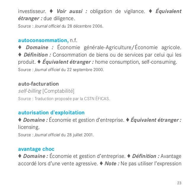vocabulaire economie finances2012