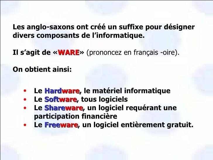 Vocabulaire Informatique Slide 2