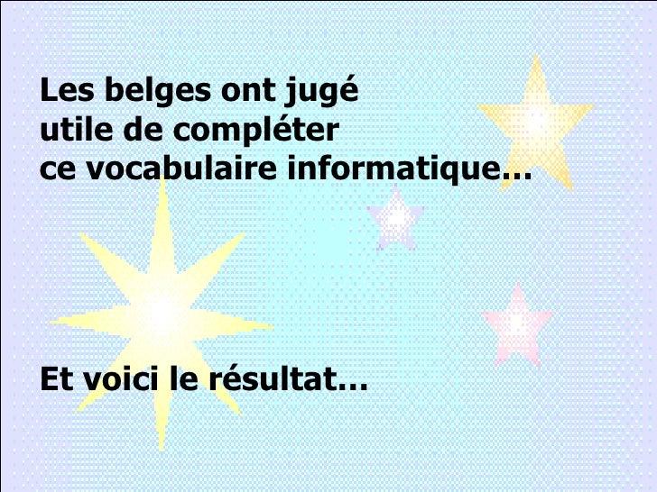 Vocabulaire Informatique Slide 3