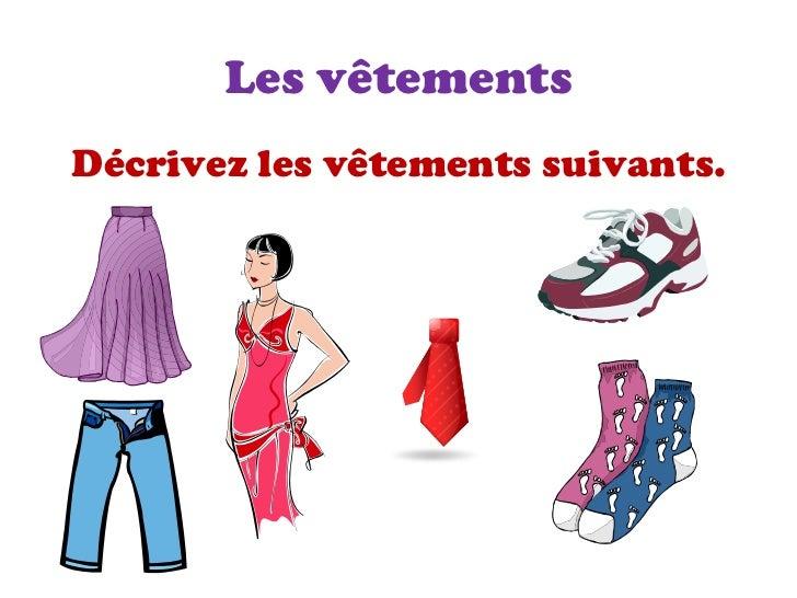 Vocabulaire pour les vêtements