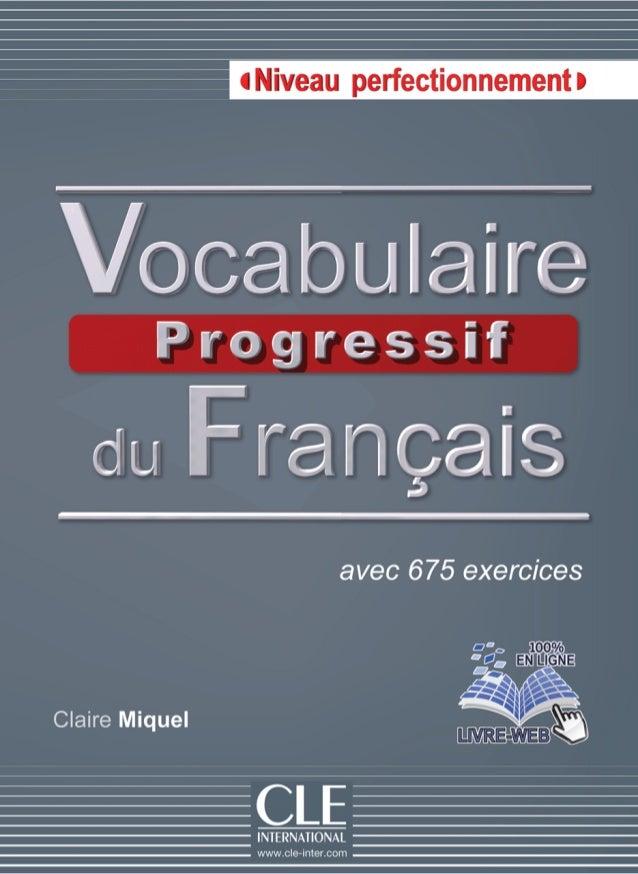 Vocabulaire Progressive Niveau Perfectionnement