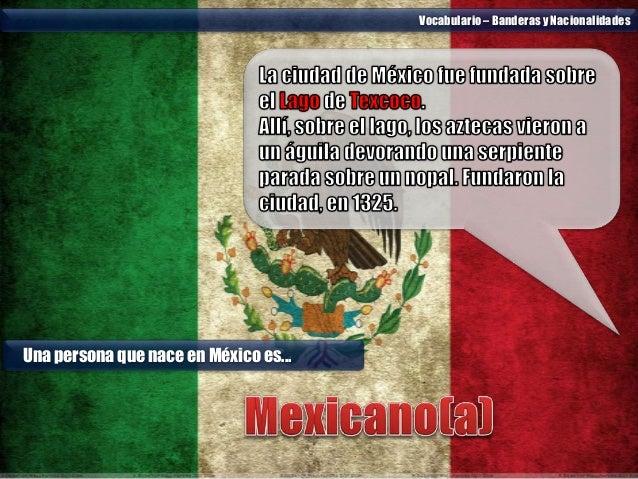 Vocabulario Banderas Y Nacionalidades