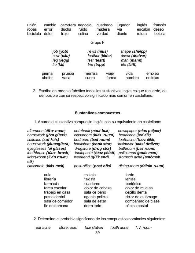 Vocabulario basico-ingles-espanyol