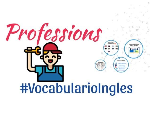 Vocabulario De Las Profesiones En Inglés Con Imagenes Pdf Y