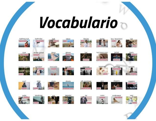 Vocabulario de la ropa en inglés con imagenes PDF y ejercicio - Prendas de vestir o Vestimenta Slide 3