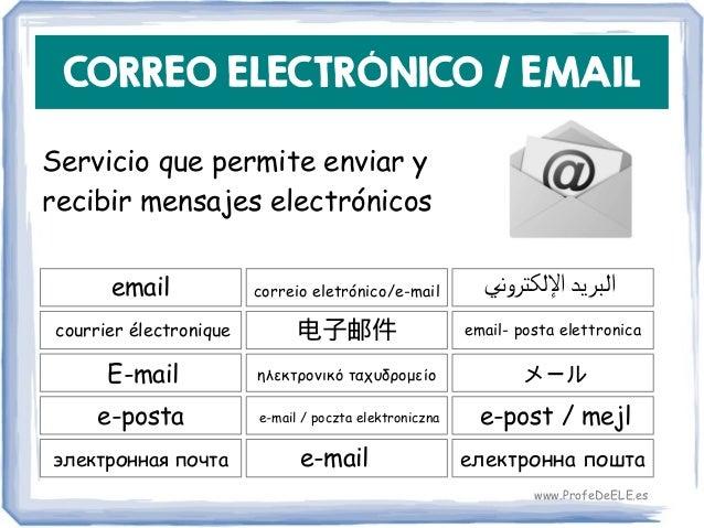 CORREO ELECTRÓNICO / EMAIL Servicio que permite enviar y recibir mensajes electrónicos email 电子邮件 email- posta elettronica...