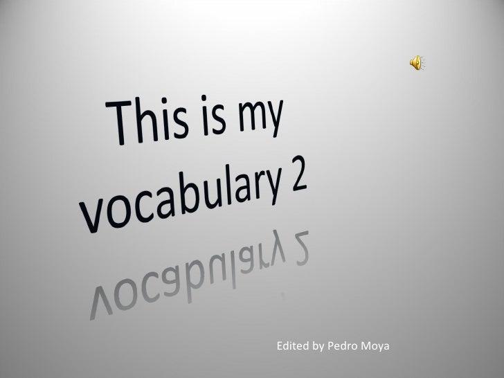 Edited by Pedro Moya