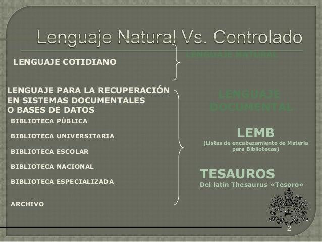 Vocabulario controlado2013 Slide 2